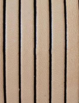 5 mm lapos bőrszál-Natúr-1 cm