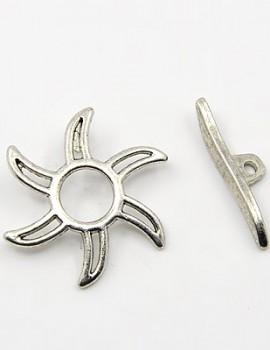 Napocskás T-kapocs-Antik ezüst-1 szett