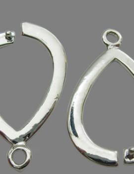 Csepp fülialap Foglalatos -Platinum-1 pár