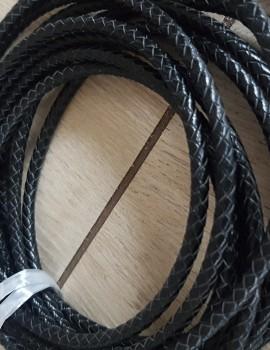 5 mm fonott bőrszál-fekete-10 cm