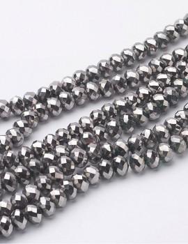 Csiszolt gyöngy-ezüst-10 db
