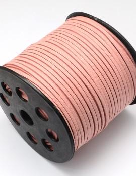 Hasított bőrszál-Vintage rózsaszín-1 m