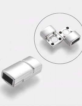 Téglalap kapocs 5 mm bőrhöz-1 db-cink platinum