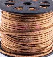Hasított bőrszál-3 mm-Arany