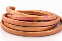 Ovális bőr 10x6 mm-Metál világos réz-1 cm