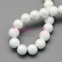 10 mm porcelán-fehér-5 db