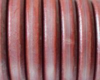 Ovális bőr 10 x 6 mm-Metál piros-1 cm