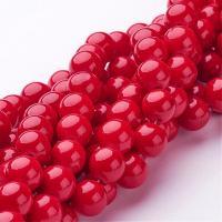 8 mm ásvány-piros-1db